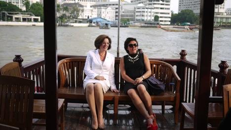 Thailicious - Mandarin Oriental Bangkok General Manager Amanda Hyndman with Kate Hasenfus