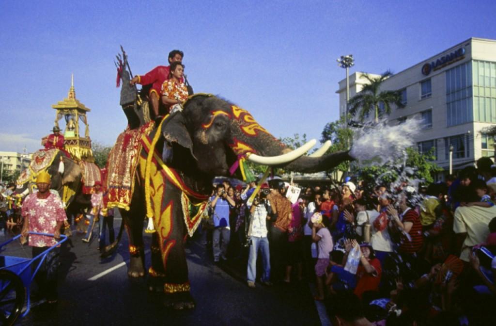 Songkran Thailand elephants